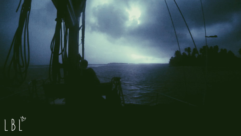 Watching a midnight thunderstorm while anchored in the islands
