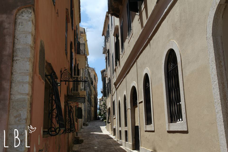 Those lovely alleys in Corfu