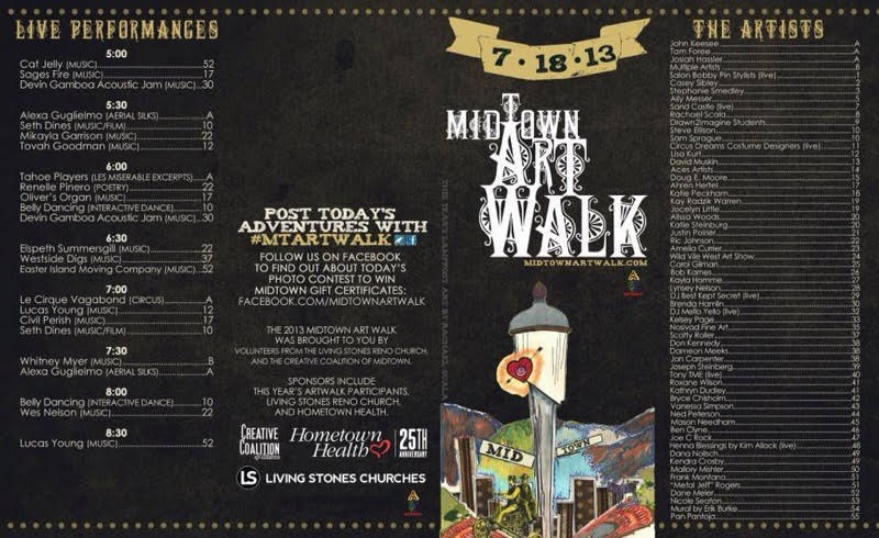 Midtown Art Walk Event Map and Brochure