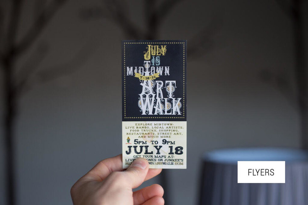 Midtown Art Walk Flyers