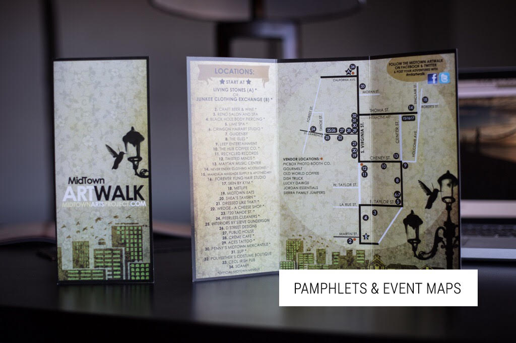 Pamphlet Design and Event Map