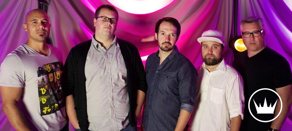 From left to right: Gary Smith - Keys, Mike Malone - Drums, Greg McMonagle - Vocals, Kelvin Kaspar - Guitar, Matt Vanderlinden - Bass