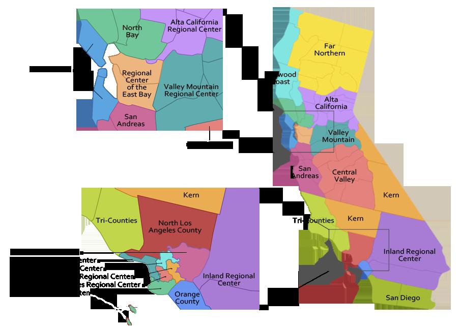 Regional Center Map