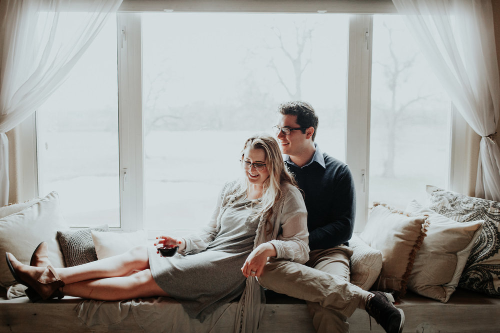 I'm so terribly uncomfortable being in front of the camera. With the help of wine, Austin's whispered jokes, and Hannah's gentle presence, she somehow managed to capture genuinely candid images.