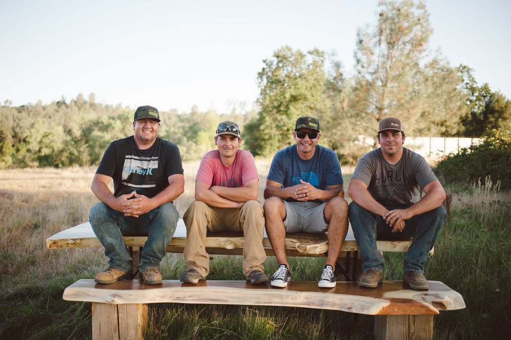 The team behind these rad tables, which happen to be available to rent in the Northstate area.
