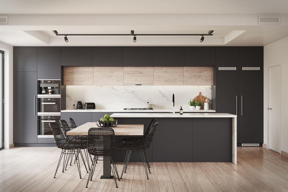 BlackBerry Kitchen Interior 3D Render