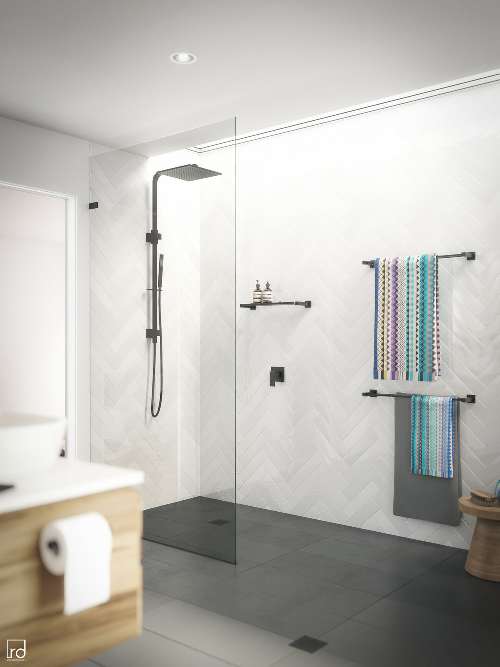 Meir Bathroom - Sydney, NSW — rdvis Creative Studio | 3D Rendering ...