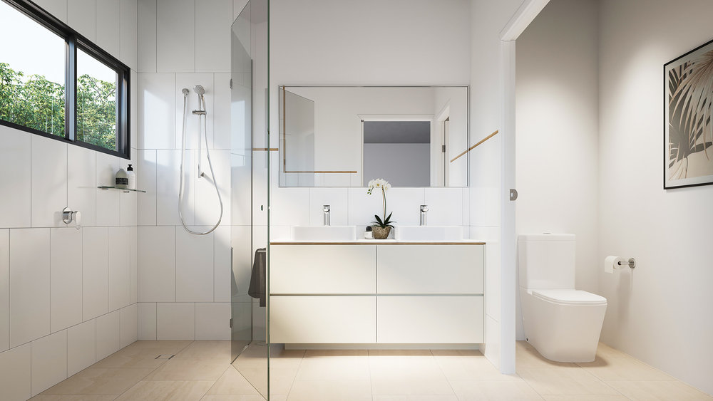 3D render Interior Archviz QLD real estate bathroom rdvis artist impression