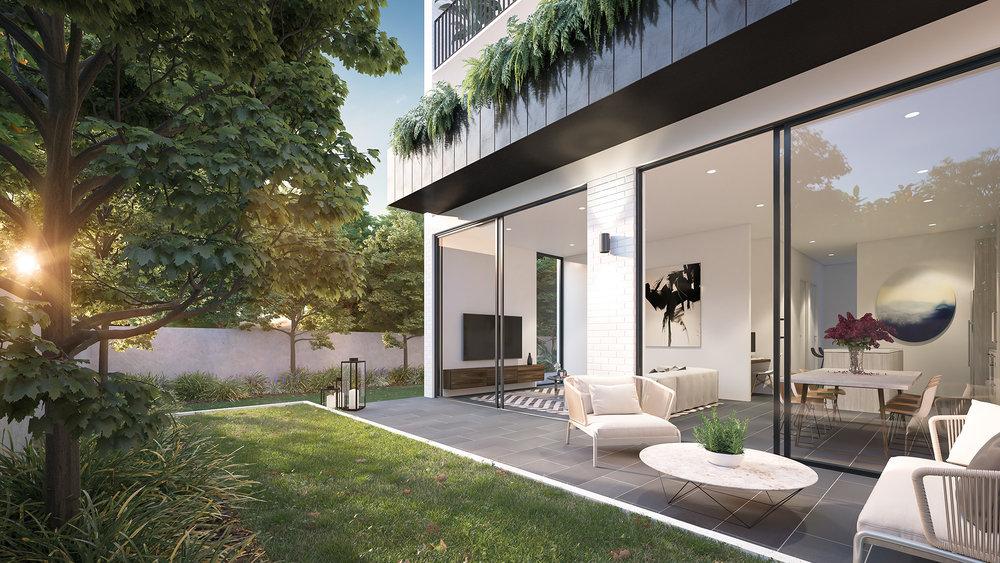 3D render Exterior Archviz NSW rdvis artist impression garden