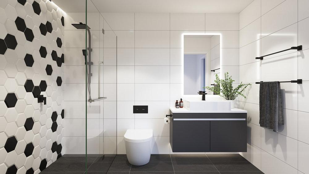 3D render Bathroom Archviz QLD Gold Coast rdvis artist impression