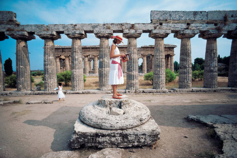 Slim Aarons,  Dimitris Kritsas at the Temple of Poseidon, Sounion, Greece,  1968