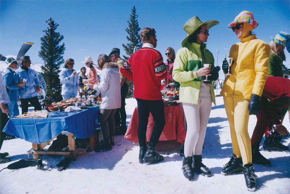 Slim Aarons,  Snowmass Gathering,  1968