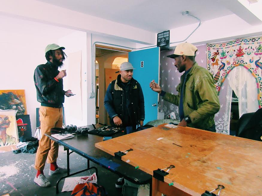 Fellow artists and friends of Muzae's, who also share the studio space.