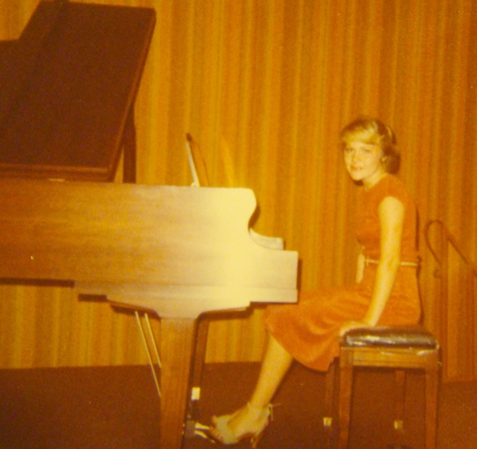 Emily at one of her piano recitals age 15