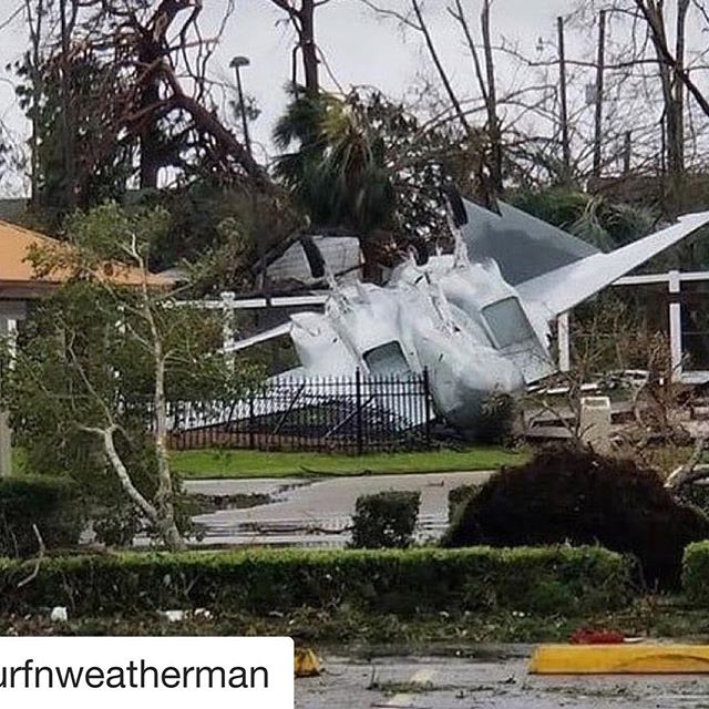 #Repost @surfnweatherman with @get_repost ・・・ ‪Hurricane #Michael sends a retired F15 on one last flight at Tyndall Air Force base near Panama City #hurricanemicheal‬ #florida #flwx #prayforflorida #prayforpanhandle
