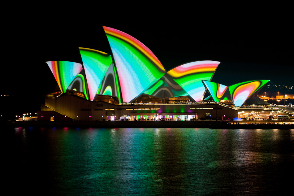 Vivid Sydney Lighting the Sails