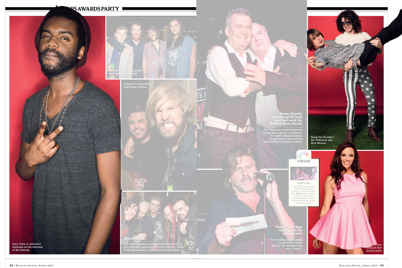 Rolling Stone Awards layout