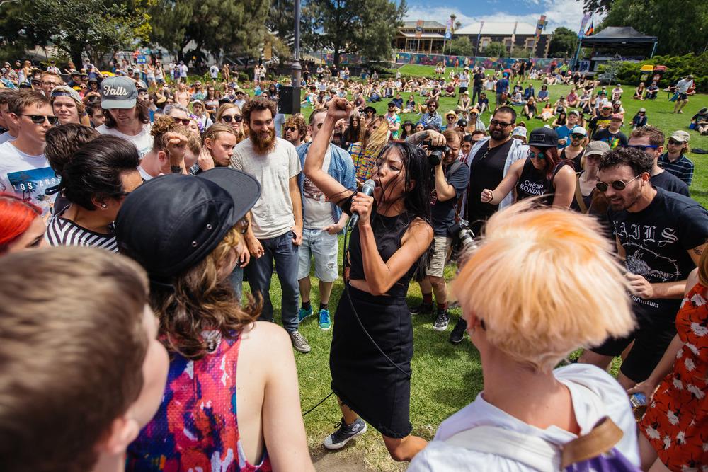 High Tension - Melbourne Laneway Festival 2016
