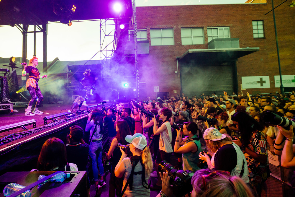 Grimes - Melbourne Laneway Festival 2016