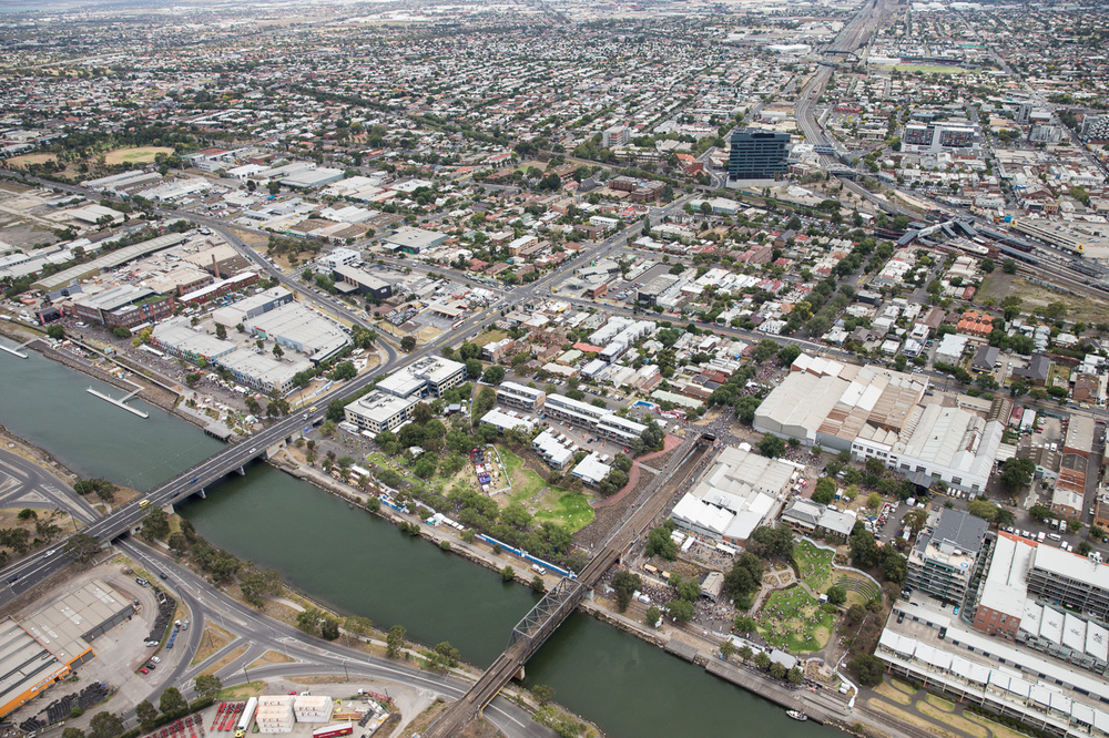 Melbourne Laneway Festival Aerials
