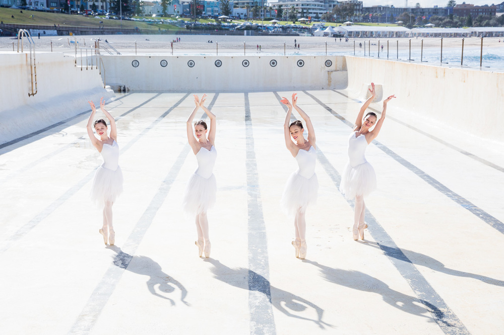 Australian Ballet Swan Lake dancers at Icebergs