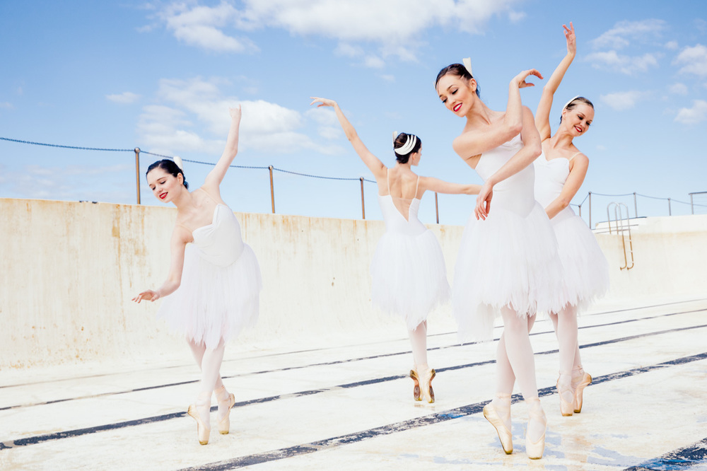 Australian Ballet Swan Lake dancers at Icebergs