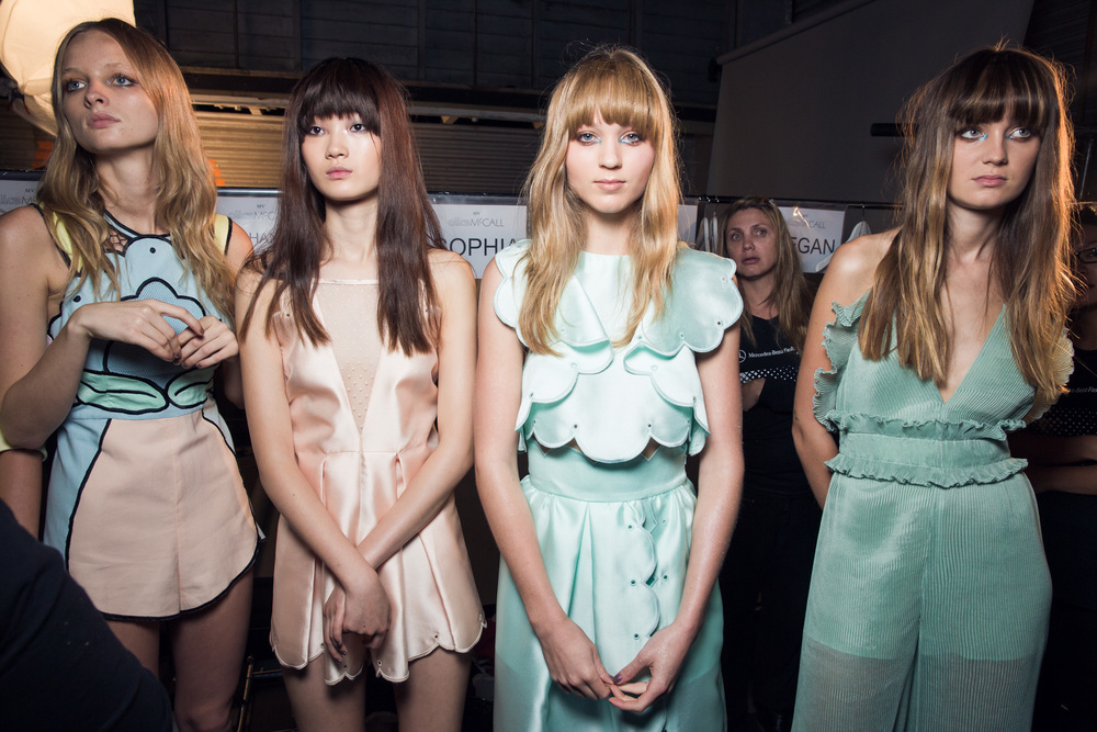Alice McCall backstage MBFWA 2014