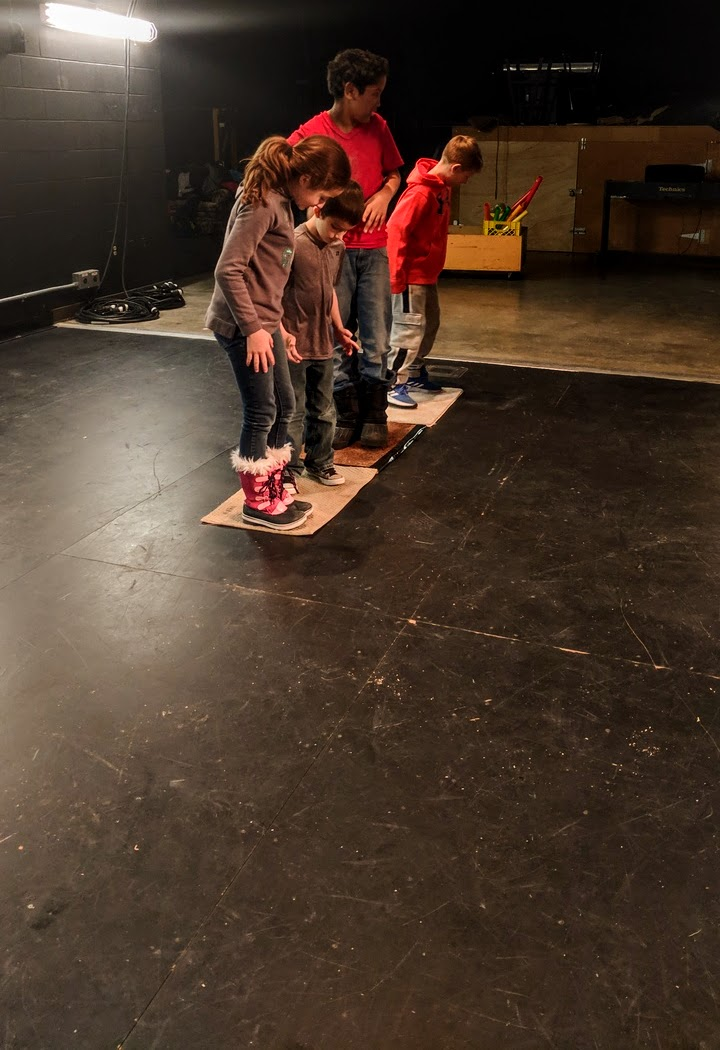 George Daily Youth Theatre Campers playing a version of Chocolate River.