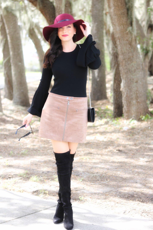 bell sleeves over the knee boots skirt.jpg
