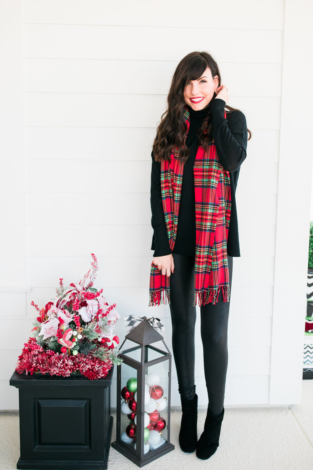 festive plaid scarf and porch decor.JPG