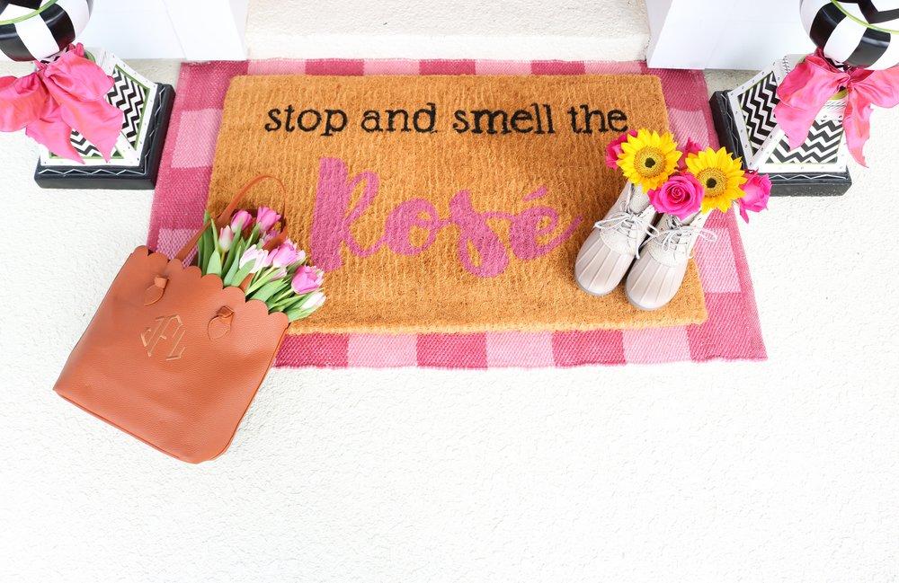 Smell the rose doormat.jpg