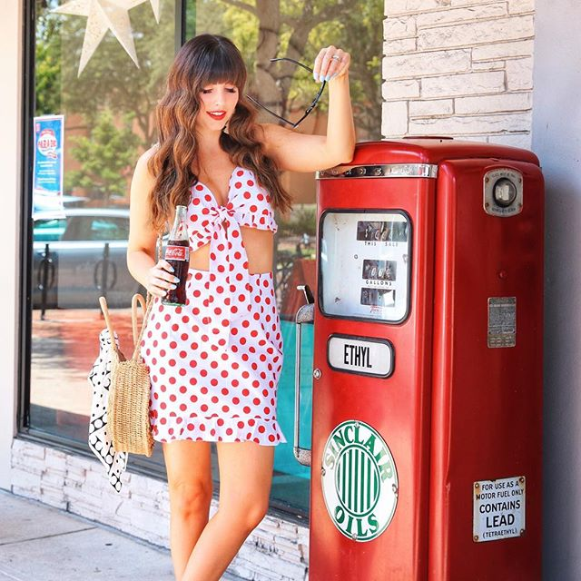Another Summer Monday bites the dust! Who else is watching the Bacchelorette right now? 🌹 @liketoknow.it Outfit Details by clicking the link in my profile! http://liketk.it/2wtq4 • • • • •  #liketkit #shareacoke #cocacola #classiccoke #sheingals #ootd #ootdgals #fashiongram #summerstyle #southernliving #retrostyle #retrofashion #vintagevibes #vacaystyle #whatiwore #wiw #whatimwearing #fashiondaily #polkadotbikini #ltkunder50 #ltkunder100 #red #polkadotsfordays #polkadots #bacchelorette #fashionblogger #orlandoblogger #lifeincolor #blogged