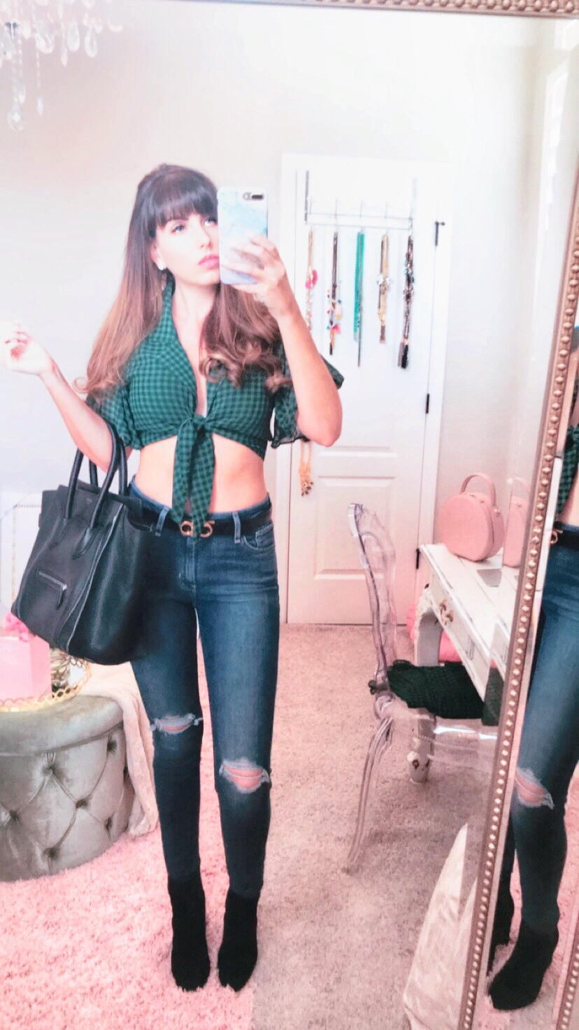 fall gingham crop top with denim.JPG