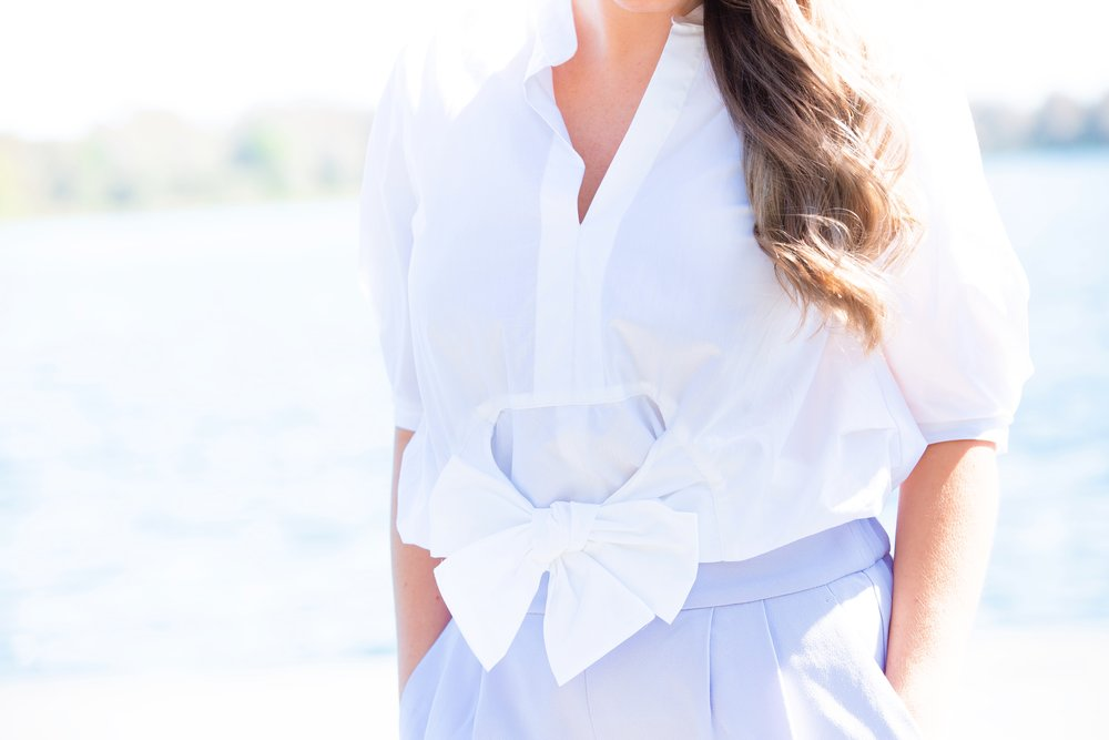 shop the outfit lavender pants and bow tie top.JPG