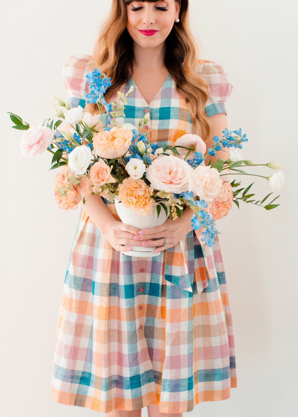 gingham and flowers gal meets glam dress.JPG