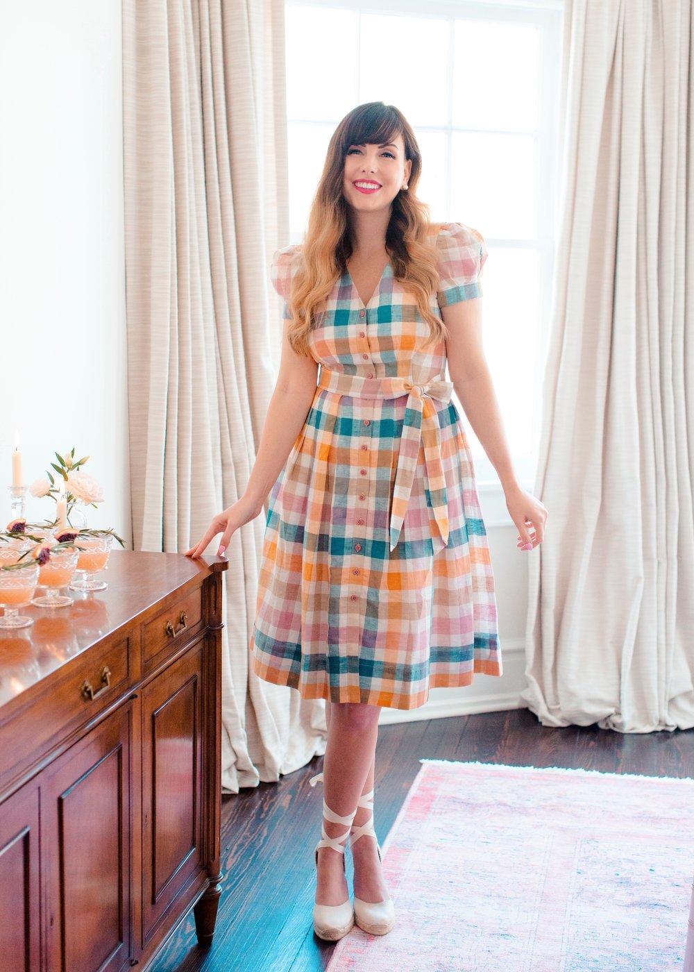 gmg colorful gingham charming dress.jpg