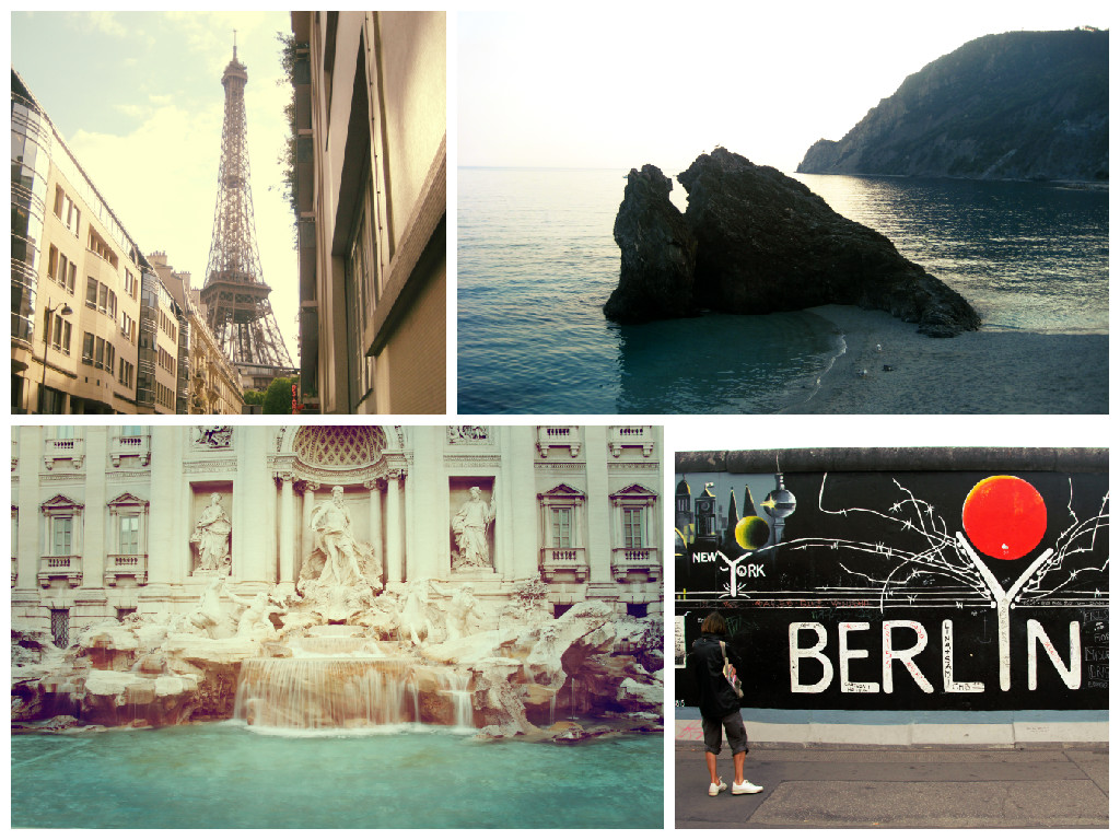 Photos from around Europe including Rome, Paris, Berlin and Cinque Terre
