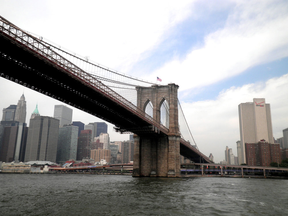 The iconic Brooklyn Bridge, New York City