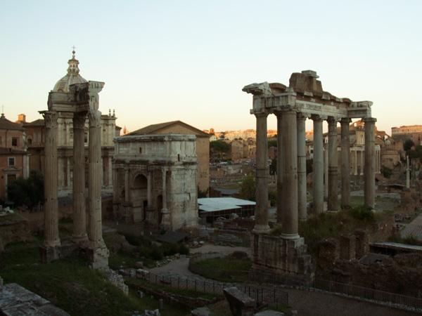 The Roman Forum at Sunset