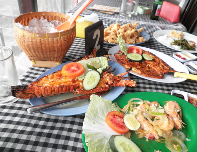 Seafood banquet in Bali