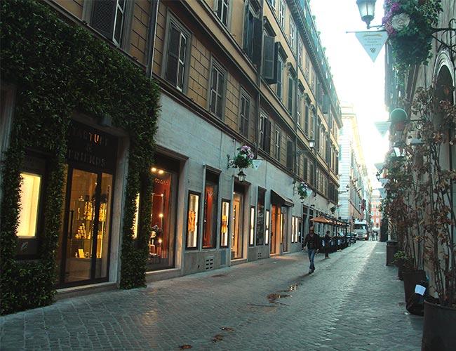 Roman street view.