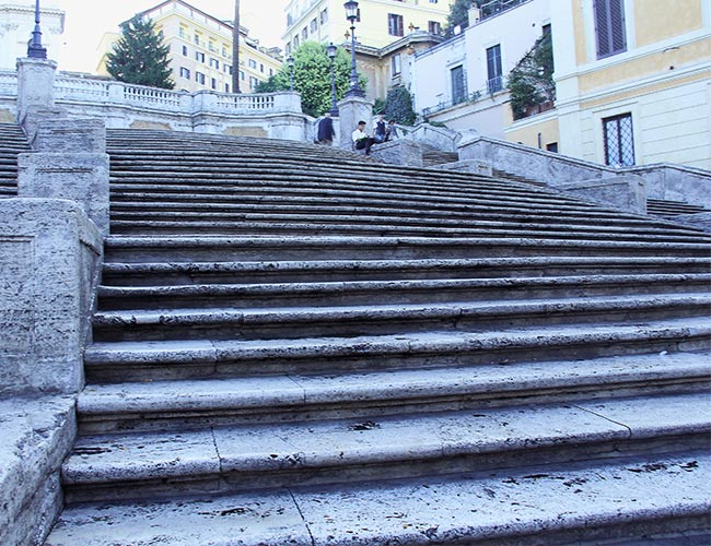 Early morning at the Spanish Steps