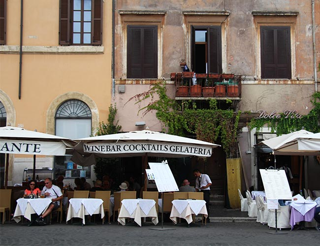 Restaurants at Piazza Navona