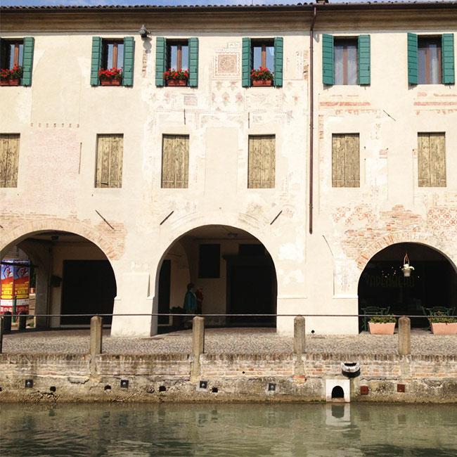 A facade in Treviso, Italy