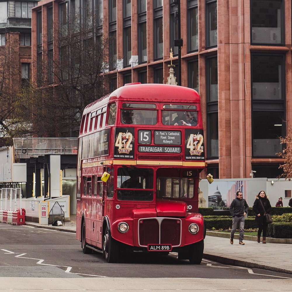 Spotted: an old London bus. There are a few still around! This one runs along route 15.