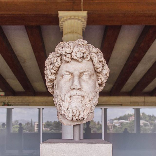 The Stoa of Attalos is a beautiful reconstruction of its 159 BC predecessor.  Within this enormous structure, is the Museum of Ancient Agora, which houses a collection of Ancient Greek Sculptures, including this handsome fellow.  Just one of the many gems to be seen in the city of #Athens 💕 See more on the blog! #visitgreece