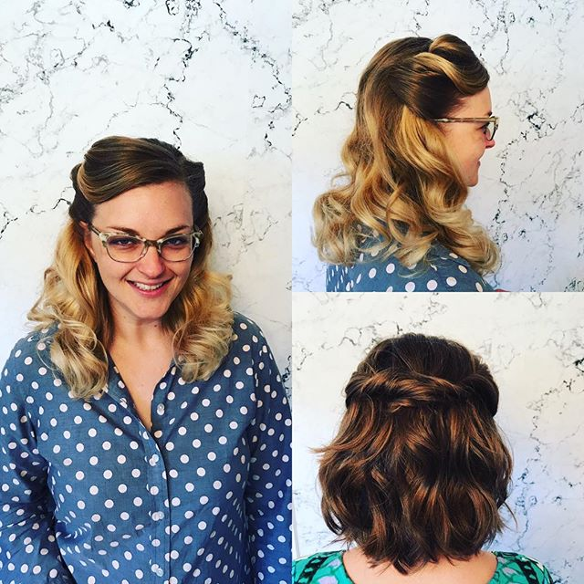 A little wedding hair by @lacey_at_the_grey_house.  #randco #randcohair #thegreyhousesalon
