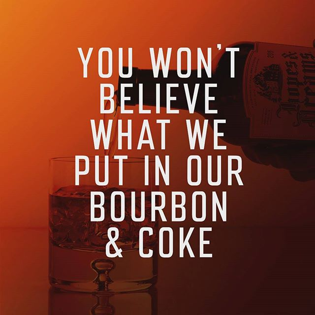 It's just Hopes & Dreams Bourbon and coke. What else would we make it with? #clickbait  #reelemin #shills #bourbon #whiskey #whisky