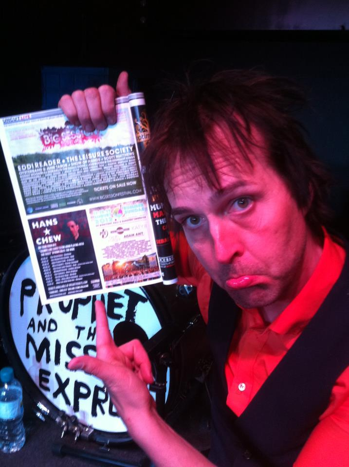 "Chuck Prophet  says, ""TAKE NOTE"":      May, Wed 2- Sheffield    Wagon Wheel Presents… @The Greystones        www.wagonwheelmedia.co.uk     www.mygreystones.co.uk     www.wegottickets.com            Thu 3- Bath            The Chapter Arts Centre    www.chapelarts.org     www.wegottickets.com                  Fri 4- St Austell, Cornwall      Eden Project Cafe    www.edenproject.com     wegottickets.com                  Sat 5- Penryn, Cornwall      Miss Peapod's    www.misspeapod.co.uk     wegottickets.com              Sun 6- Cork, Ireland      Crane Lane Theatre    www.cranelanetheatre.ie              Tue 8- Brixton, London      Windmill Brixton  020 8671 0700   www.windmillbrixton.co.uk     www.wegottickets.com              Wed 9- Brighton, Hove      The Palmeira    www.brighthelmstonepromotions….                  Thu 10- Norwich      The Bicycle Shop    www.wegottickets.com                  Fri 11- Otley West, Yorkshire      Korks  01943 462020   www.korks.co.uk              Sat 12- Brighton      Great Escape 2012 @   The Uncut Stage @ The Pavilion Theatre    www.escapegreat.com                  Sun 13- Glasgow      King Tuts Wah Wah Hut  08444 999 990   www.gigsinscotland.com     www.kingtuts.co.uk         Thanks:  Brighthelmstone Promotions  (photo)"