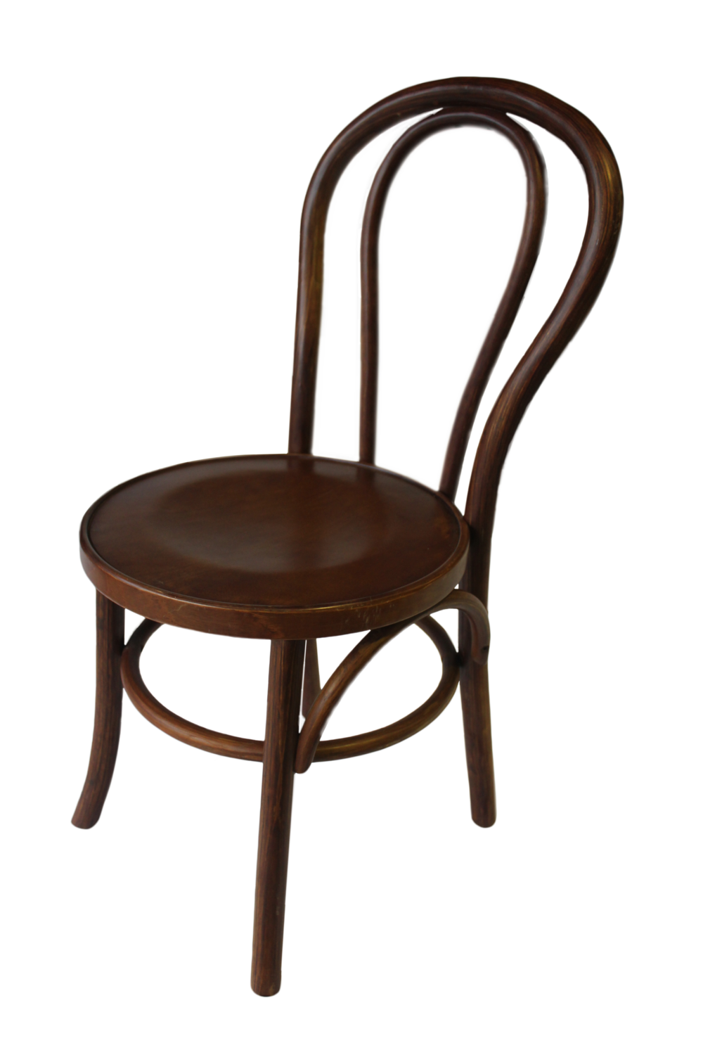 Dark Stain Timber Bentwood Chair for hire